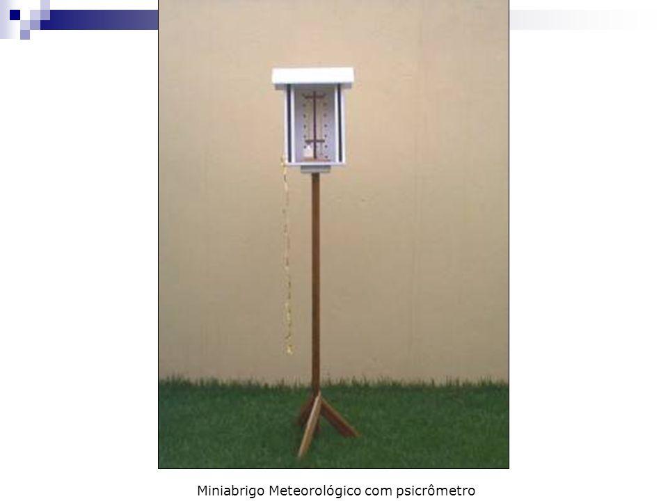 Miniabrigo Meteorológico com psicrômetro