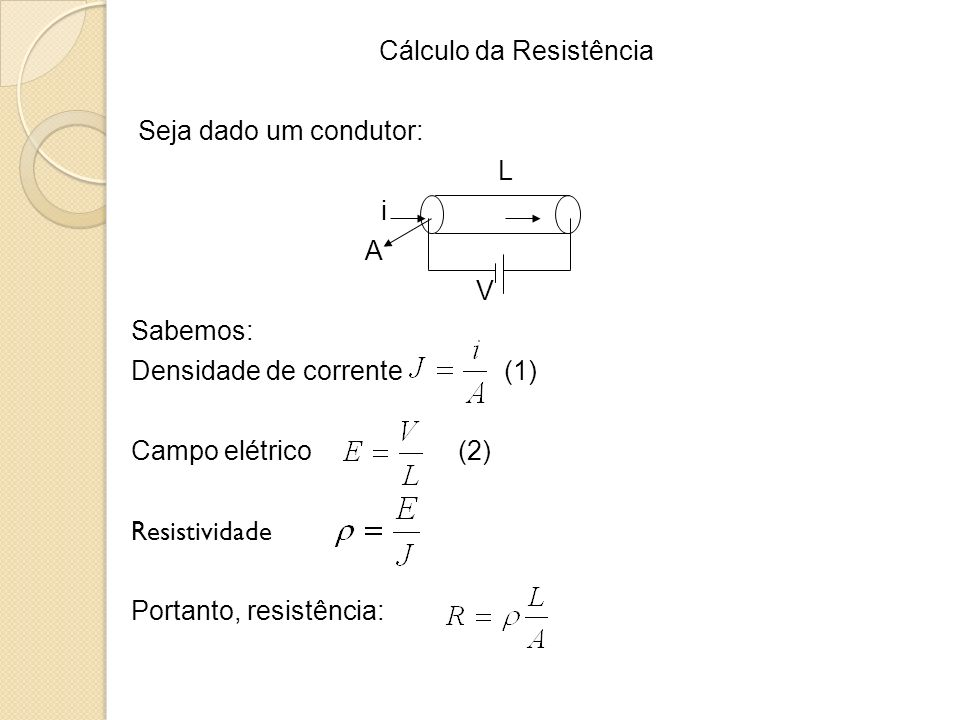 Cálculo da Resistência