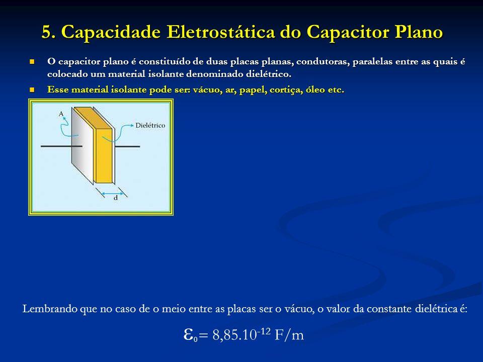 5. Capacidade Eletrostática do Capacitor Plano