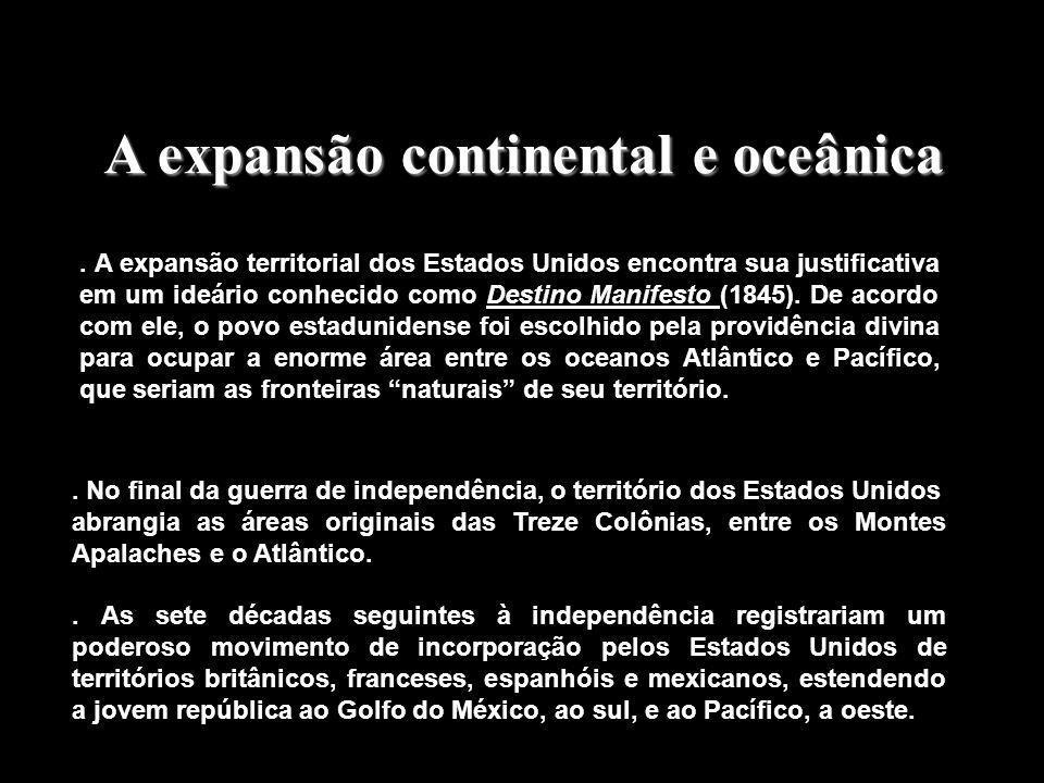 A expansão continental e oceânica