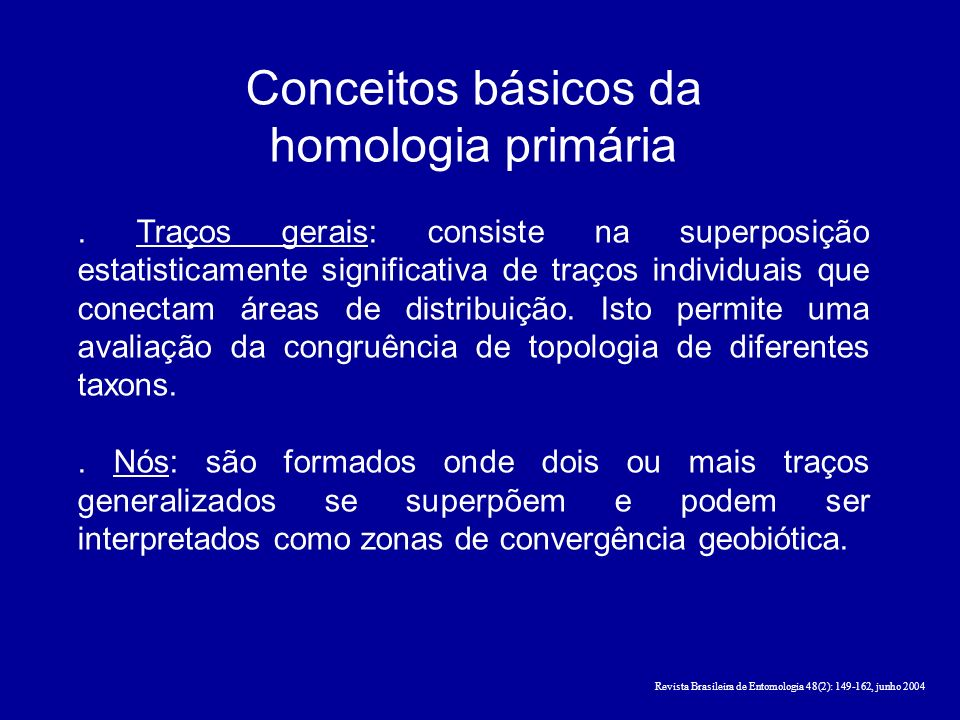 Conceitos básicos da homologia primária