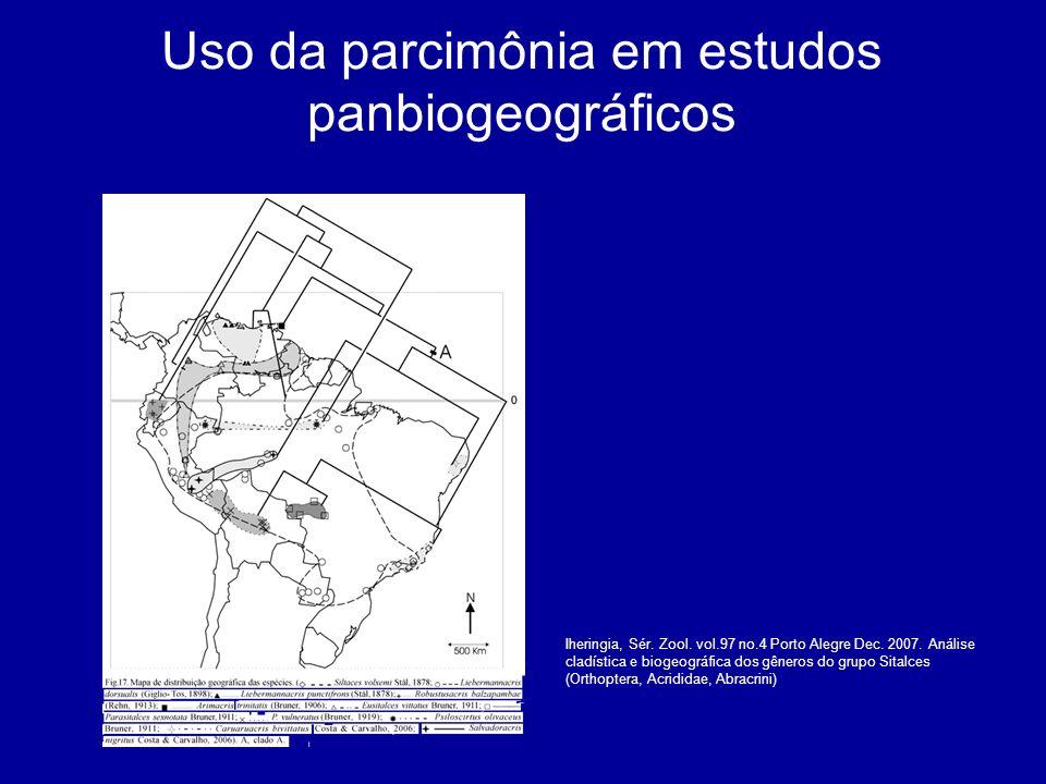 Uso da parcimônia em estudos panbiogeográficos