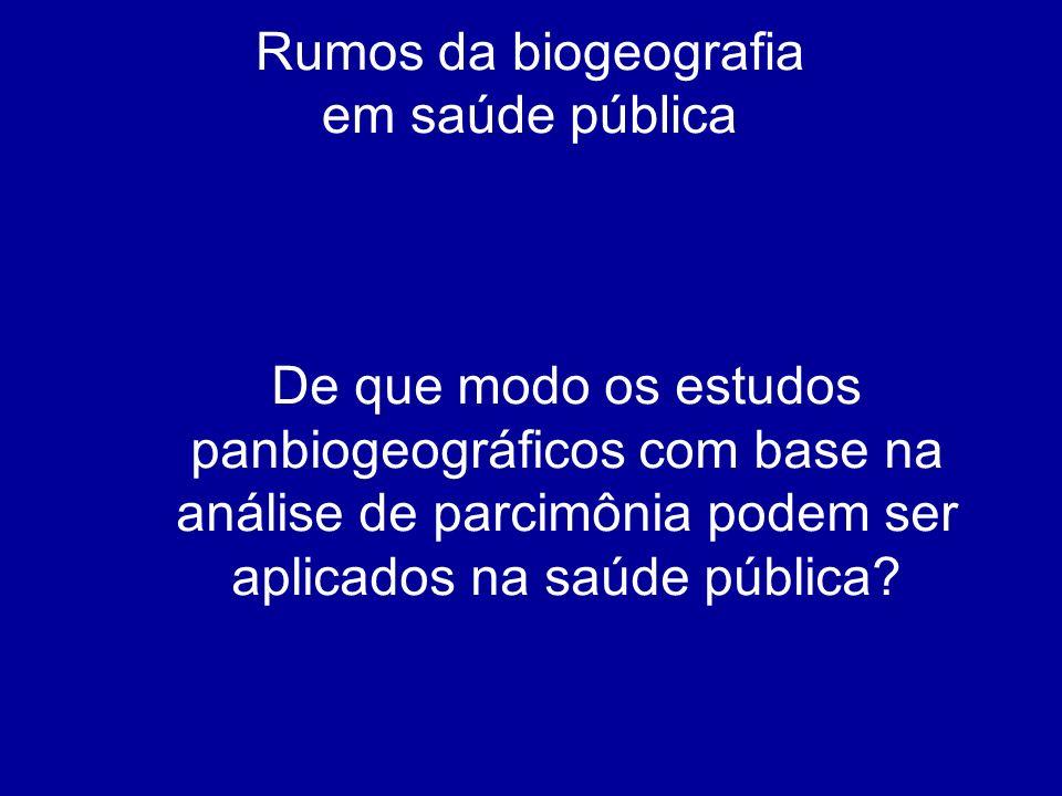 Rumos da biogeografia em saúde pública.