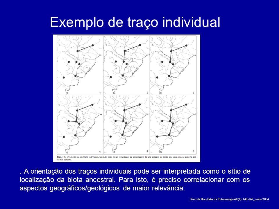 Exemplo de traço individual