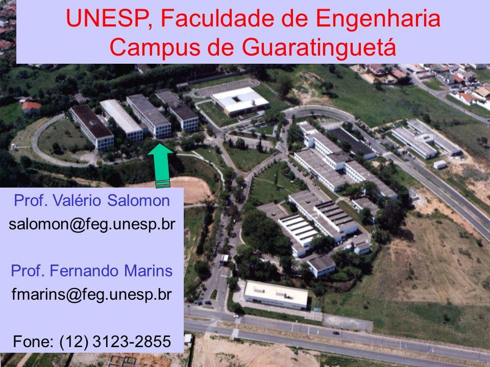 UNESP, Faculdade de Engenharia Campus de Guaratinguetá