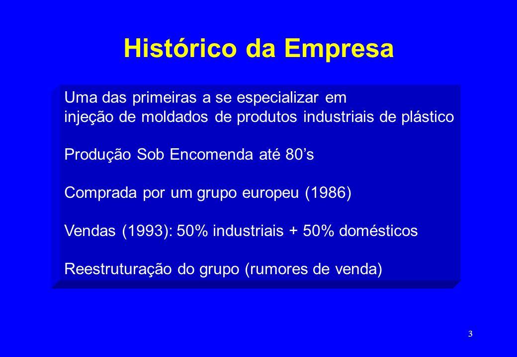 Histórico da Empresa Uma das primeiras a se especializar em