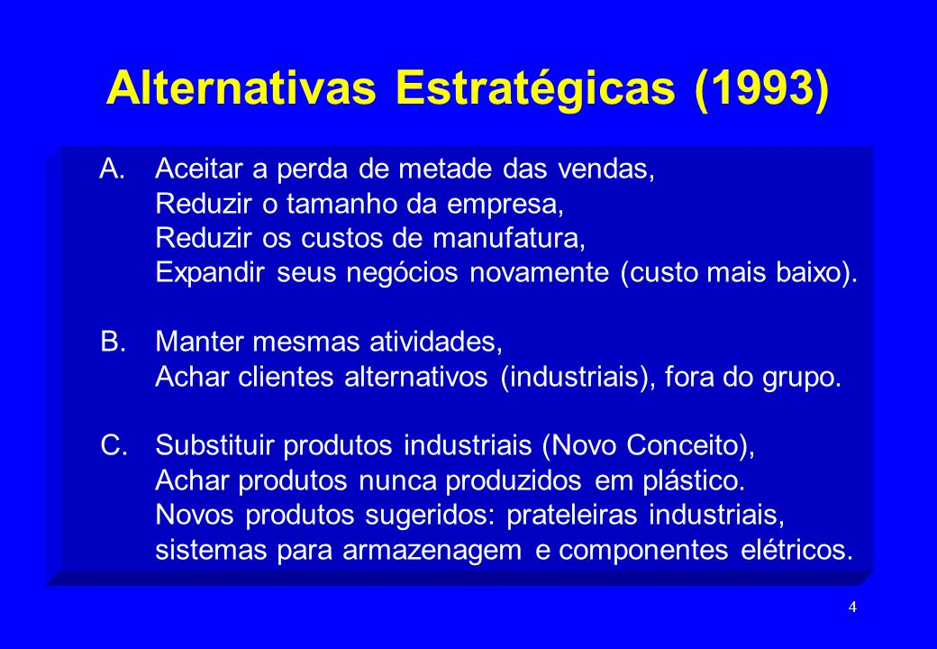 Alternativas Estratégicas (1993)