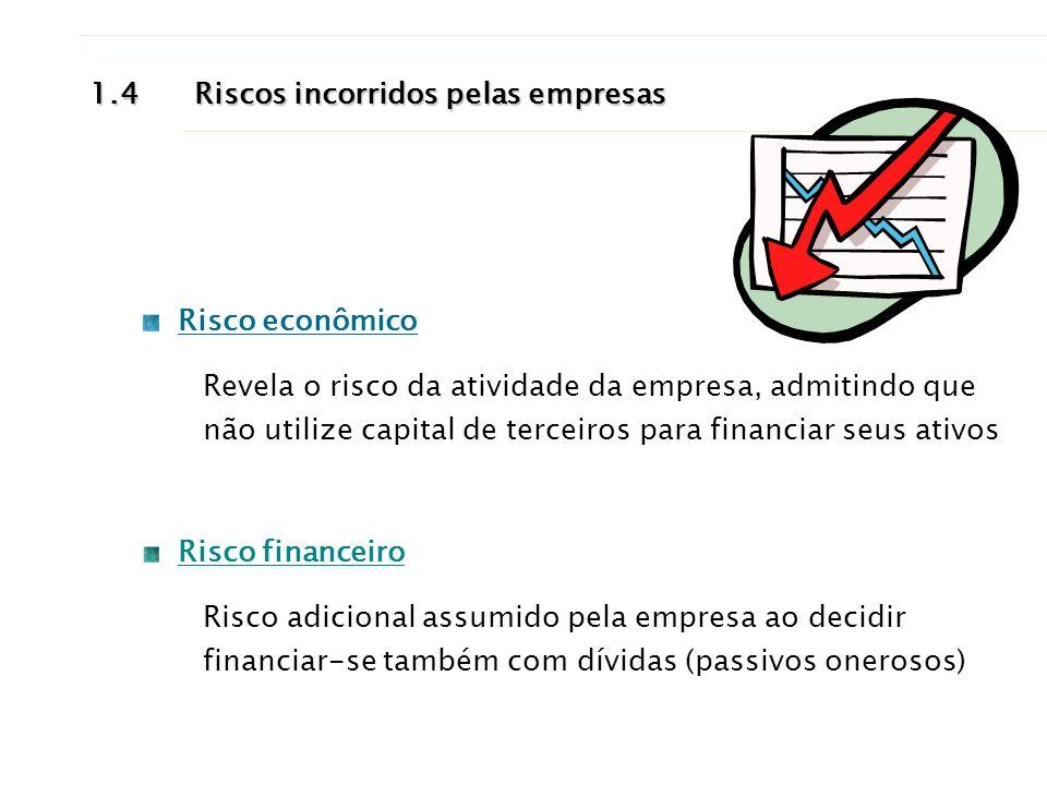 1.4 Riscos incorridos pelas empresas