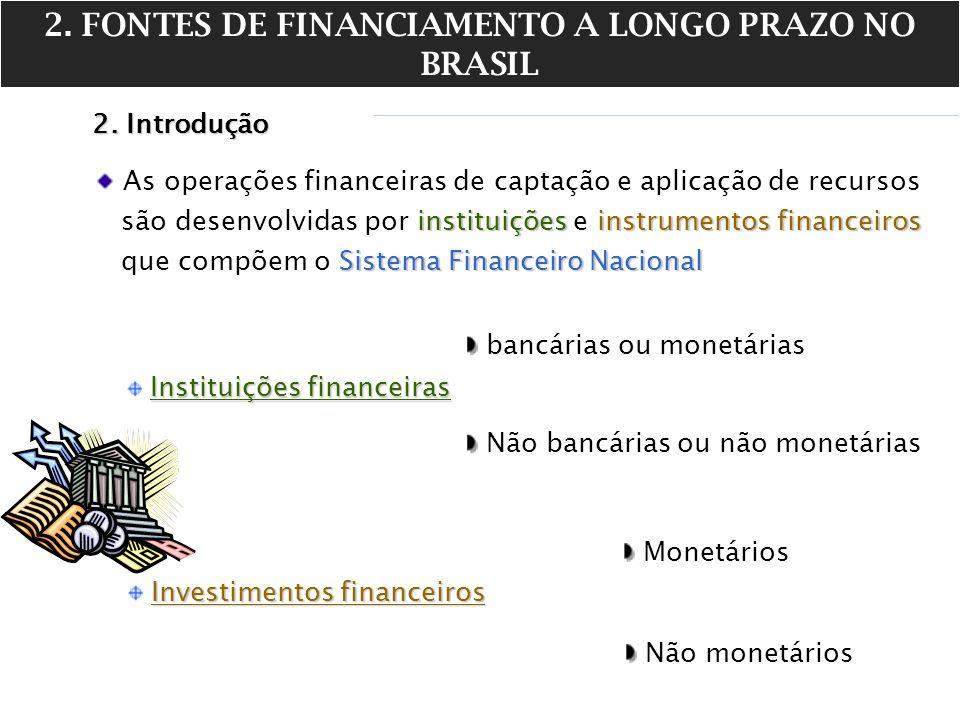 2. FONTES DE FINANCIAMENTO A LONGO PRAZO NO BRASIL