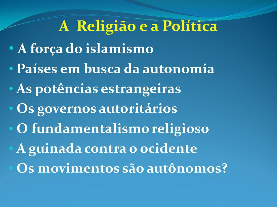 A Religião e a Política A força do islamismo