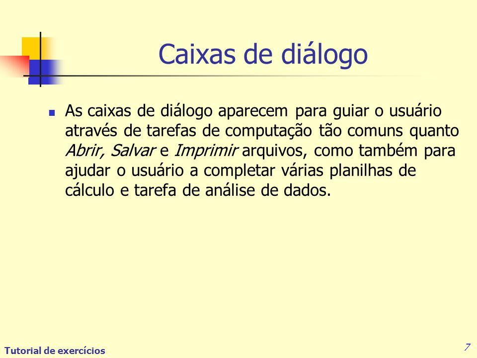 Caixas de diálogo