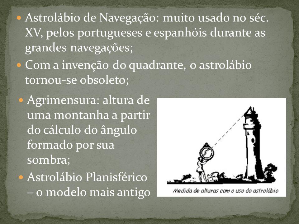 Astrolábio de Navegação: muito usado no séc