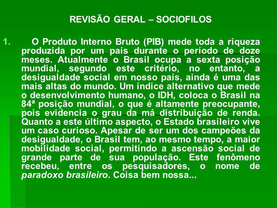 REVISÃO GERAL – SOCIOFILOS