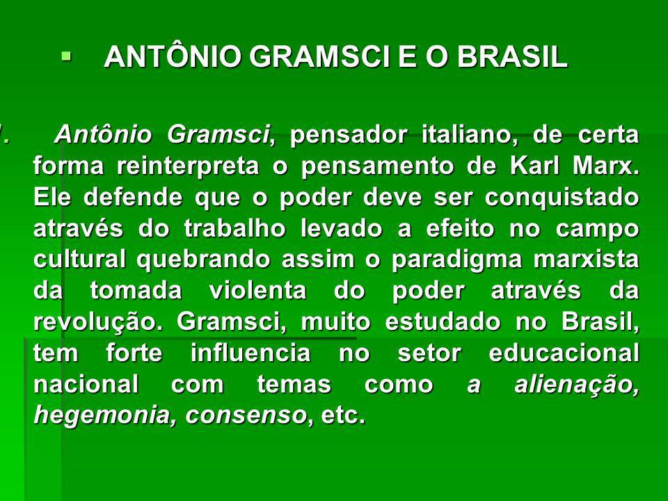 ANTÔNIO GRAMSCI E O BRASIL