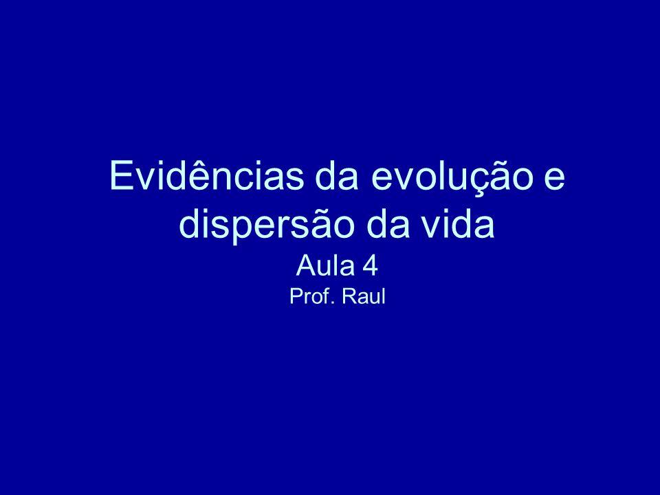 Evidências da evolução e dispersão da vida Aula 4 Prof. Raul