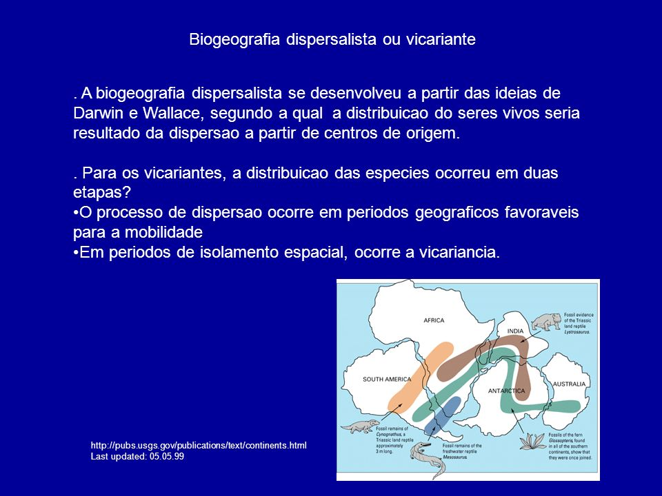 Biogeografia dispersalista ou vicariante
