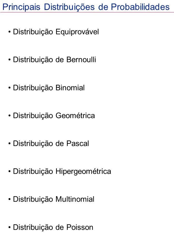 Principais Distribuições de Probabilidades