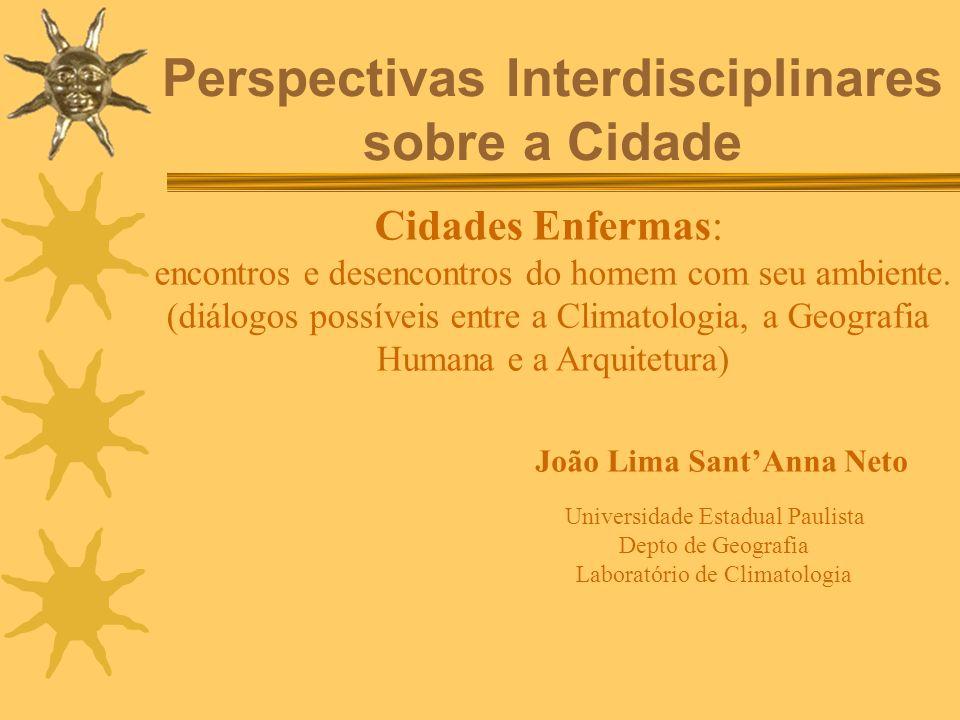 Perspectivas Interdisciplinares sobre a Cidade