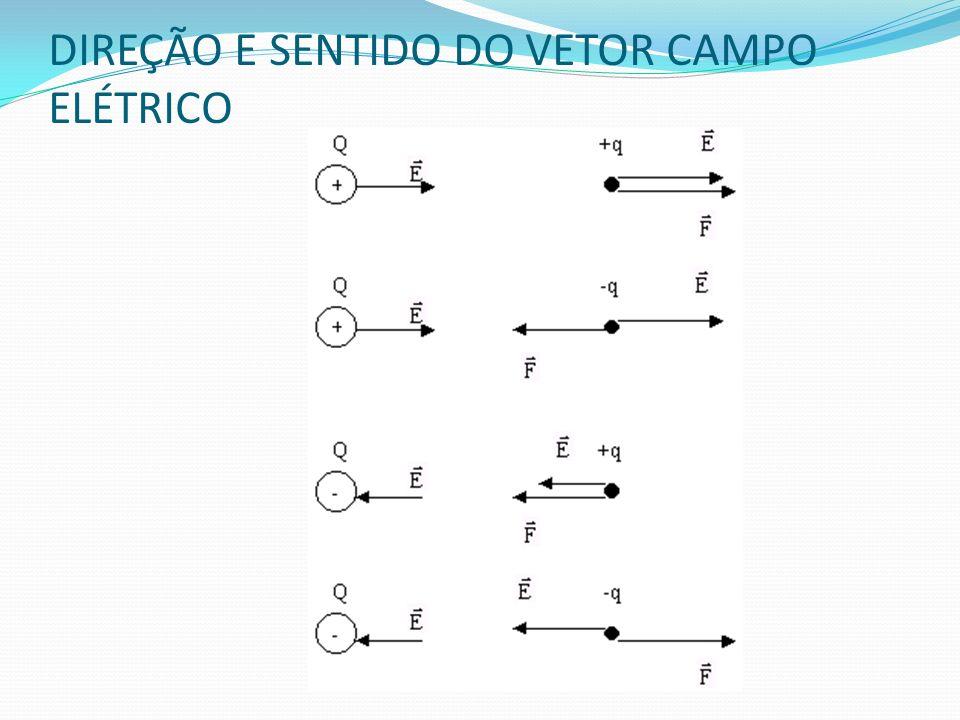 DIREÇÃO E SENTIDO DO VETOR CAMPO ELÉTRICO
