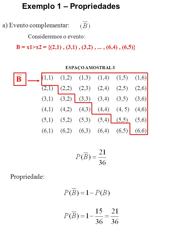 Exemplo 1 – Propriedades
