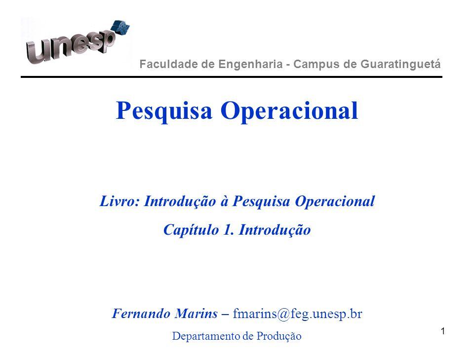 Livro: Introdução à Pesquisa Operacional