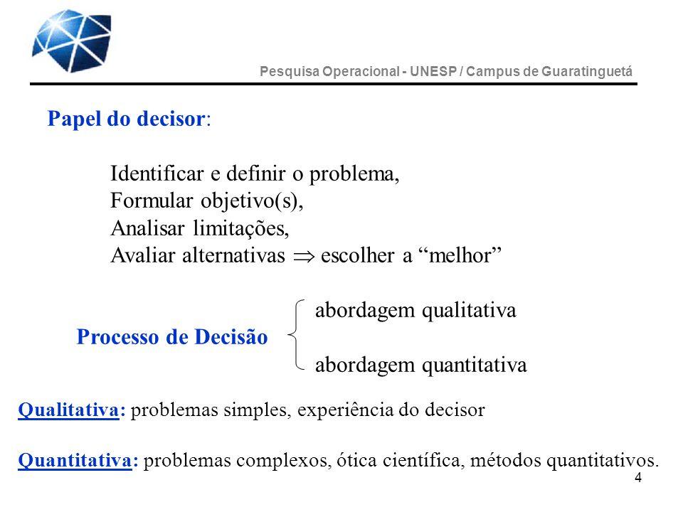 Identificar e definir o problema, Formular objetivo(s),