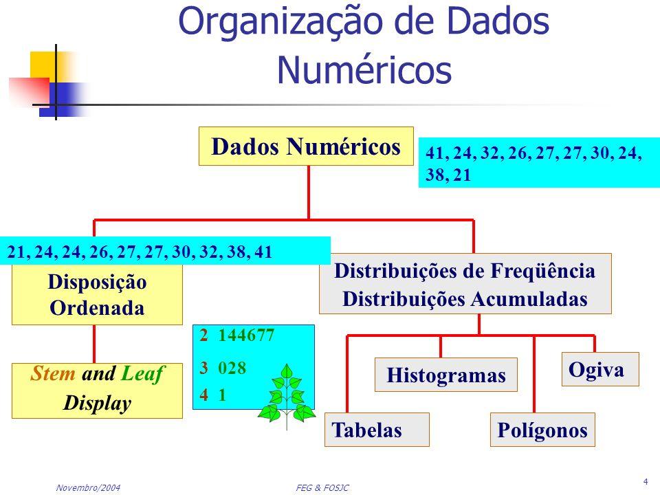 Organização de Dados Numéricos