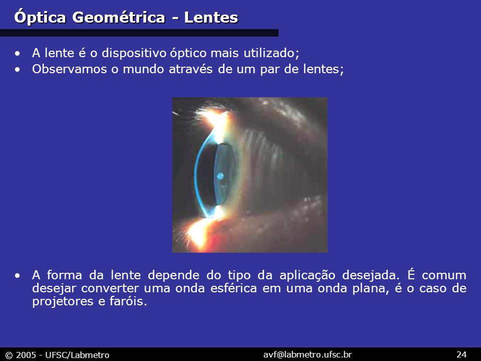 Óptica Geométrica - Lentes