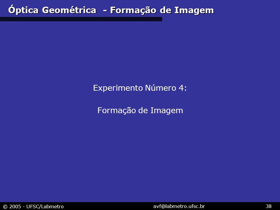Óptica Geométrica - Formação de Imagem