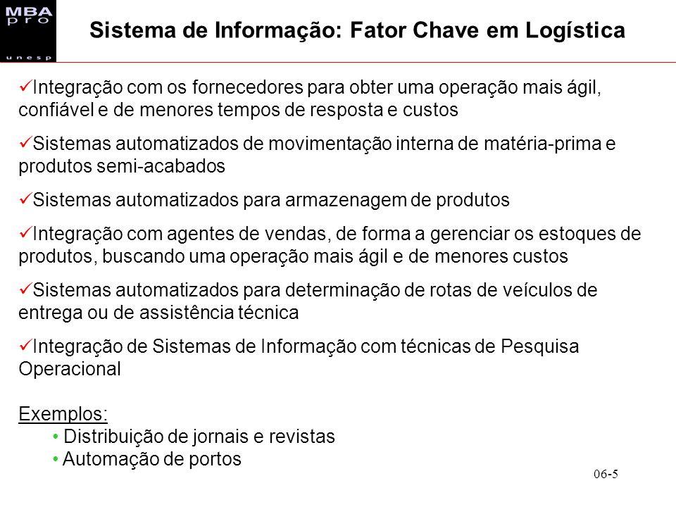 Sistema de Informação: Fator Chave em Logística