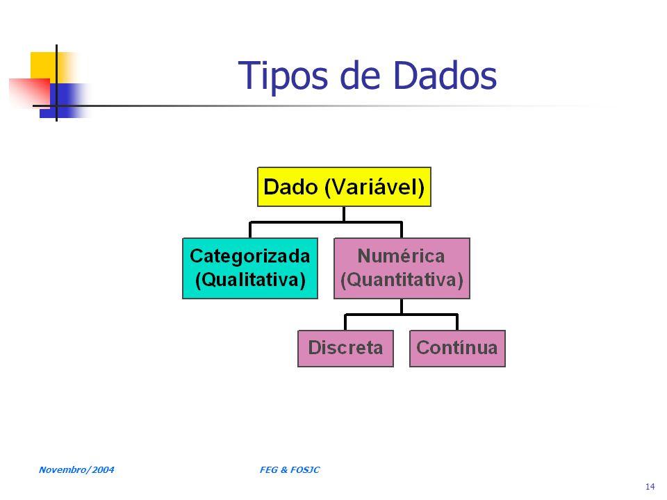 Tipos de Dados Novembro/2004 FEG & FOSJC