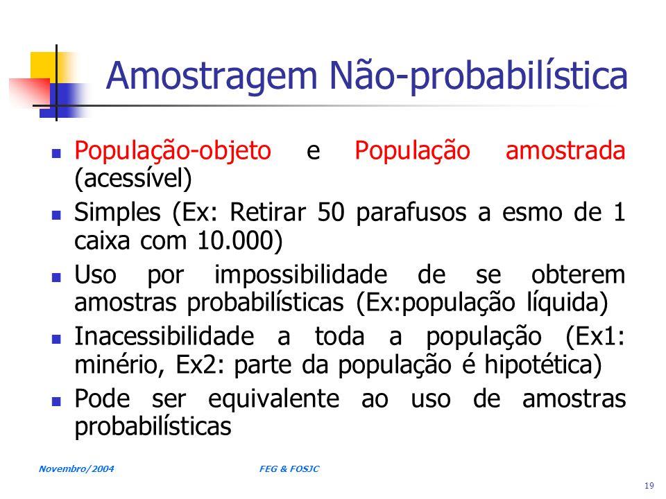 Amostragem Não-probabilística