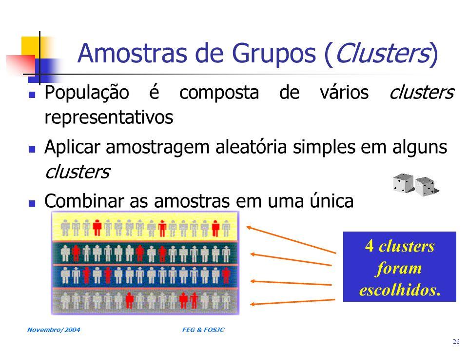 Amostras de Grupos (Clusters)