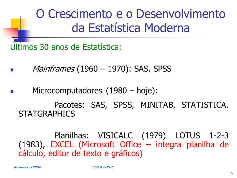 O Crescimento e o Desenvolvimento da Estatística Moderna