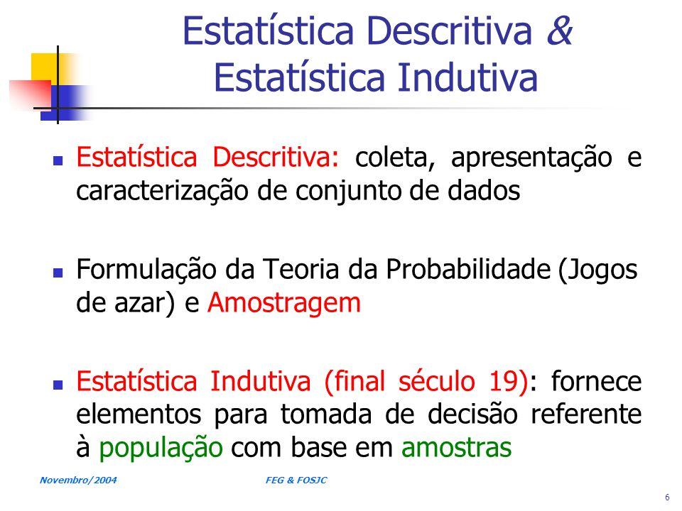 Estatística Descritiva & Estatística Indutiva