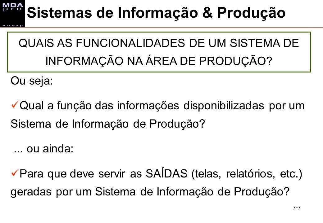 Sistemas de Informação & Produção