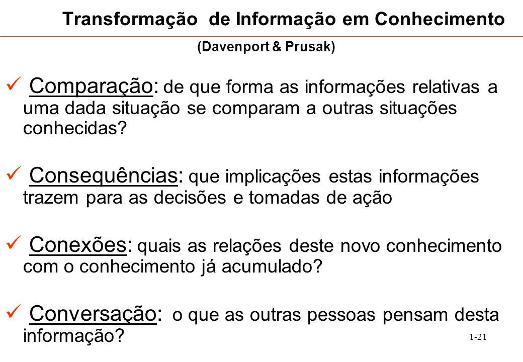 Transformação de Informação em Conhecimento