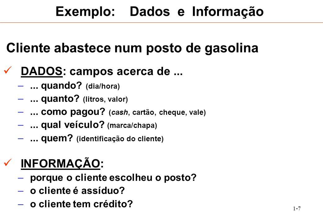 Exemplo: Dados e Informação