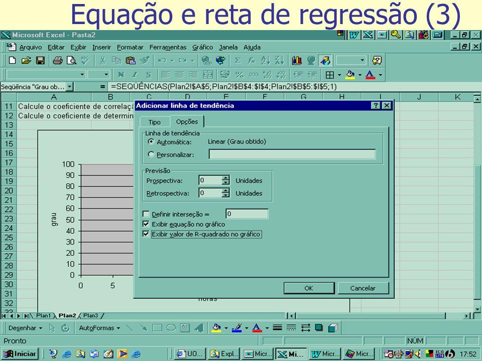 Equação e reta de regressão (3)