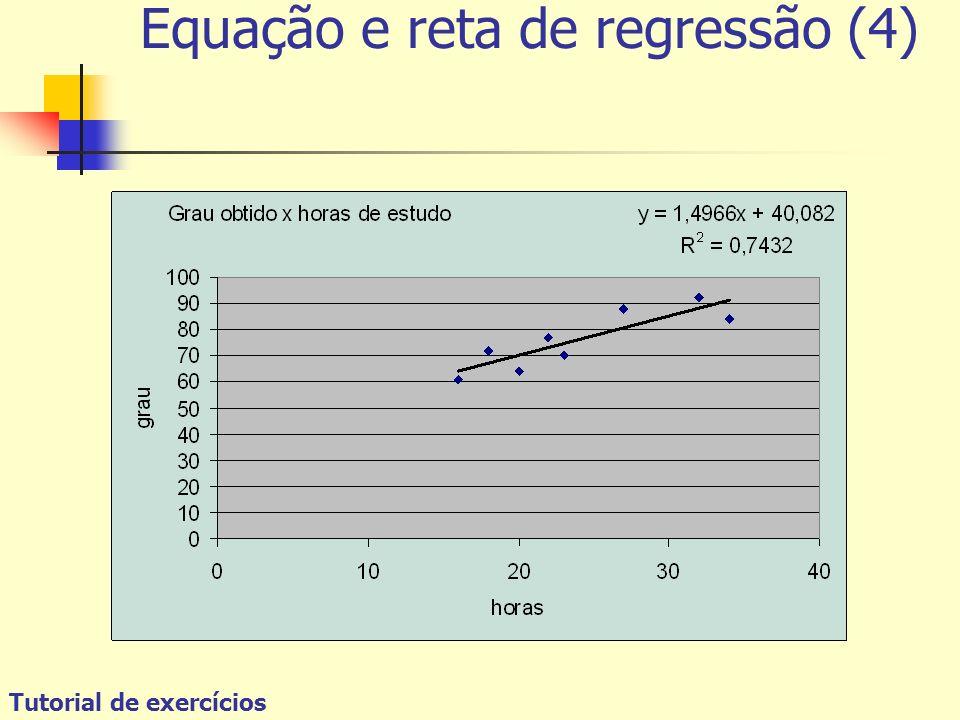 Equação e reta de regressão (4)