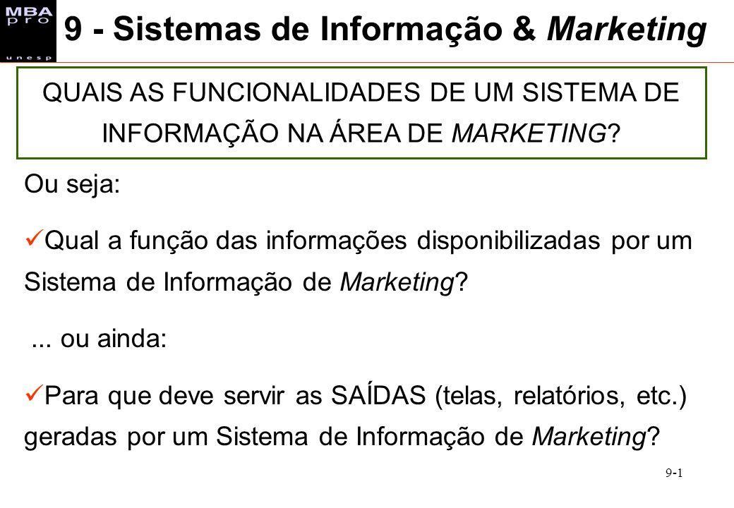 9 - Sistemas de Informação & Marketing