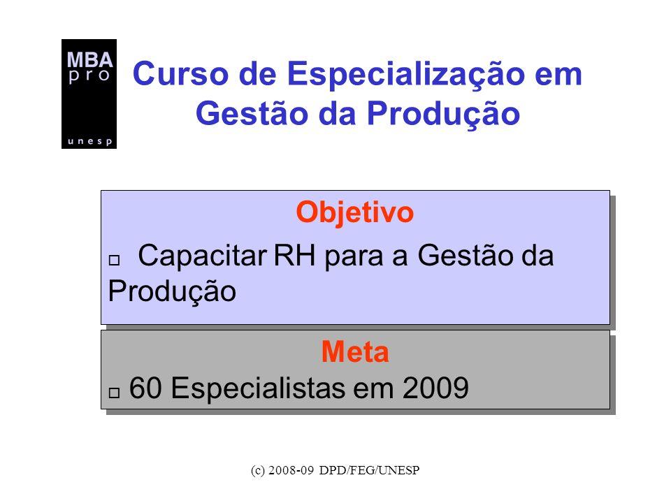 Curso de Especialização em Gestão da Produção