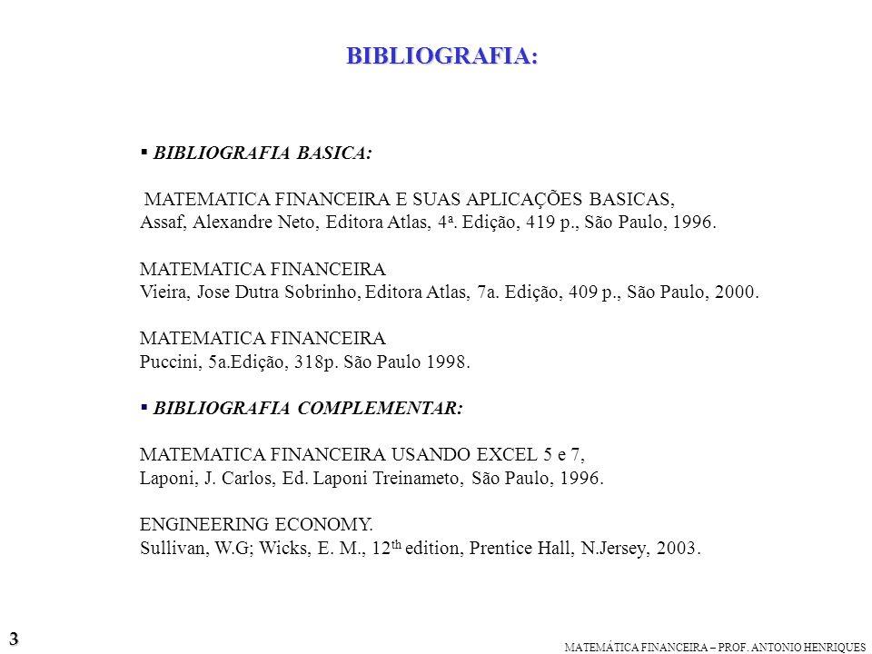 BIBLIOGRAFIA: BIBLIOGRAFIA BASICA: