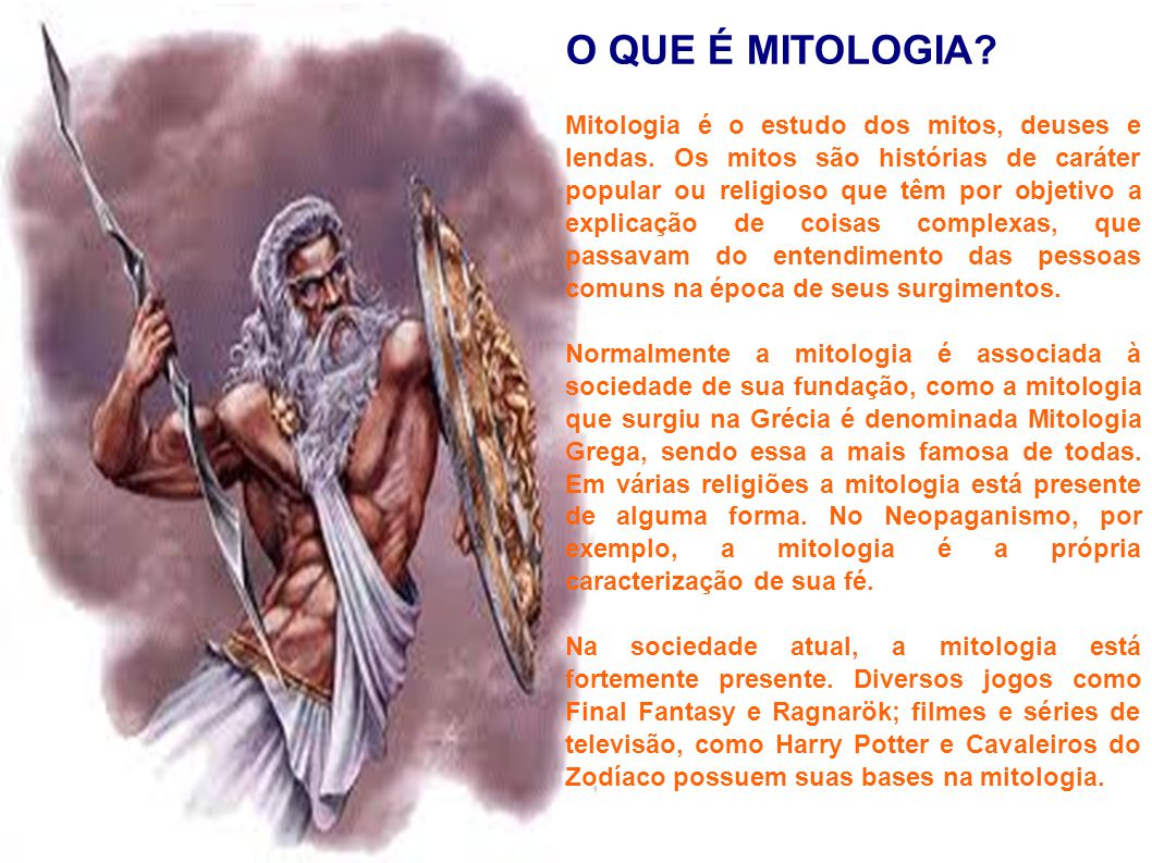 Mitologia grega e brasileira ppt carregar for Esternotomia o que e