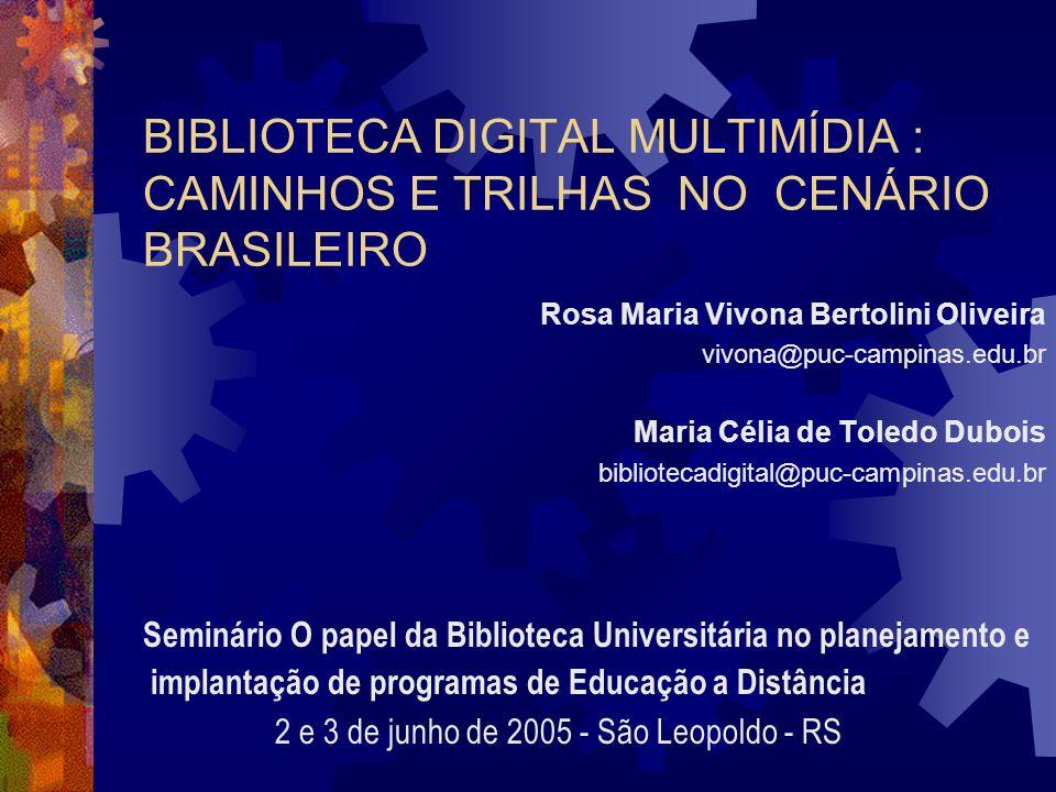 BIBLIOTECA DIGITAL MULTIMÍDIA : CAMINHOS E TRILHAS NO CENÁRIO BRASILEIRO