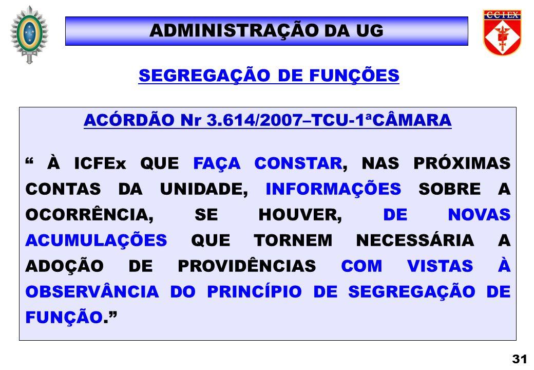 ACÓRDÃO Nr 3.614/2007–TCU-1ªCÂMARA