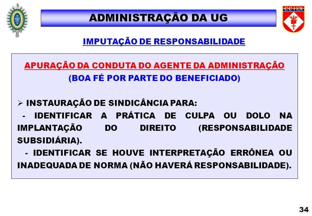 IMPUTAÇÃO DE RESPONSABILIDADE