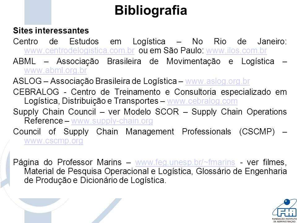 Bibliografia Sites interessantes