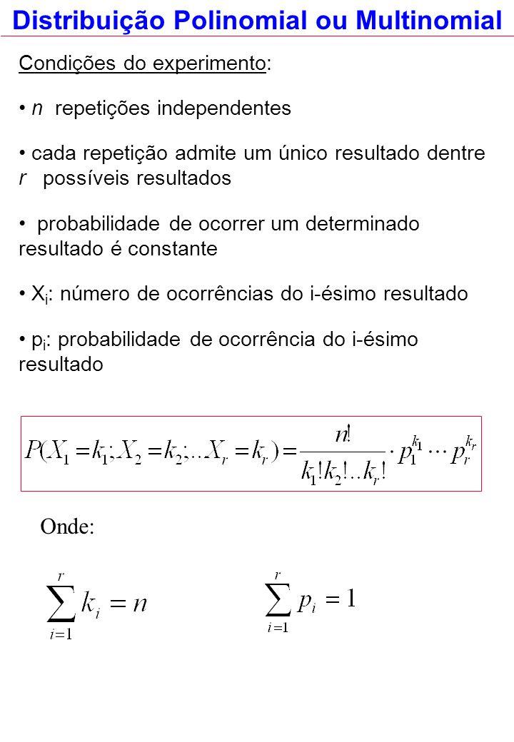 Distribuição Polinomial ou Multinomial