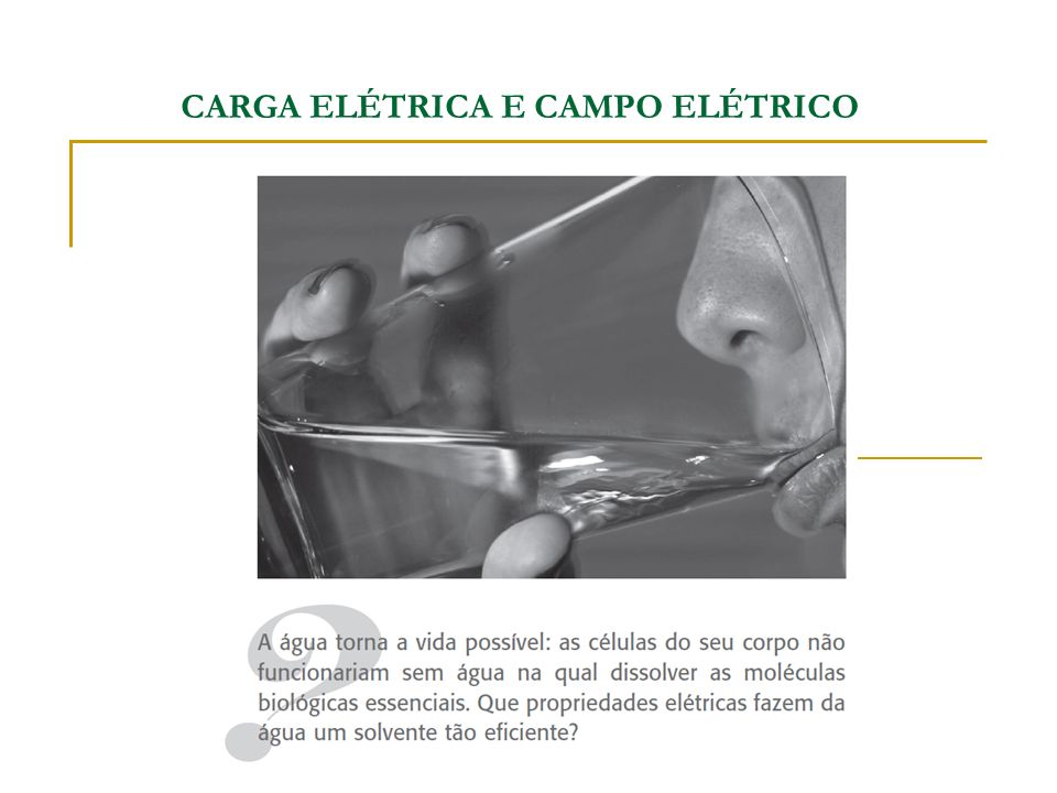 CARGA ELÉTRICA E CAMPO ELÉTRICO